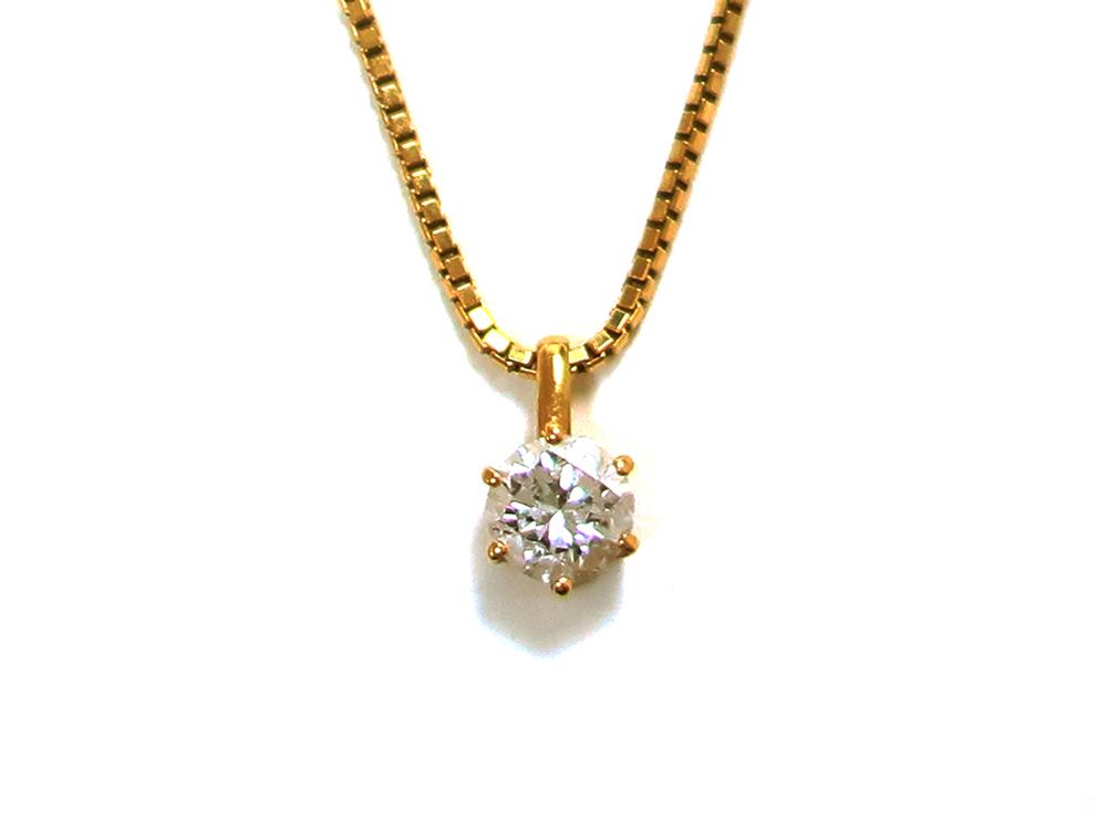 K18 ダイヤモンド0.35ct ペンダントネックレス 買取情報 201909