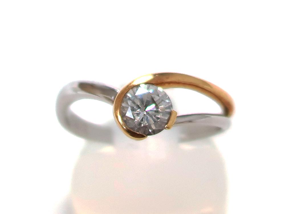 K18 Pt900 ダイヤモンド0.631ct リング 買取情報 201910