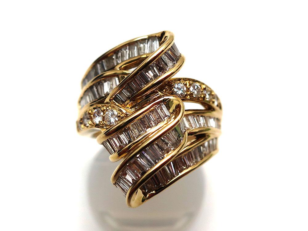 K18ダイヤモンド2.05ctファッションリング 買取情報 202001