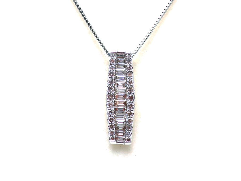 Pt900/850ダイヤモンド1ct ペンダントネックレス4.4g 買取情報 202005