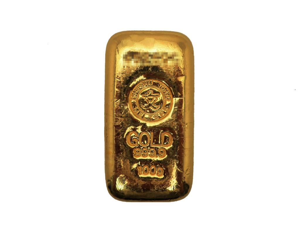 純金インゴット 100g 買取情報 202005