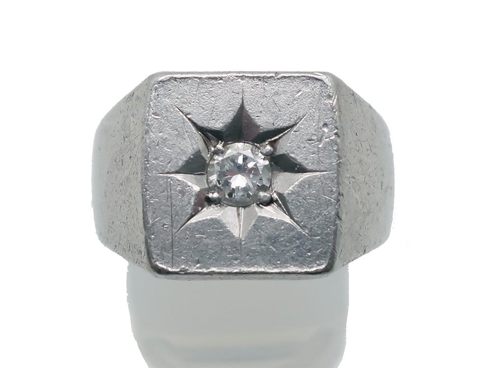 Pt900ダイヤモンド 0.22ct 印台リング19.5g買取情報 202009