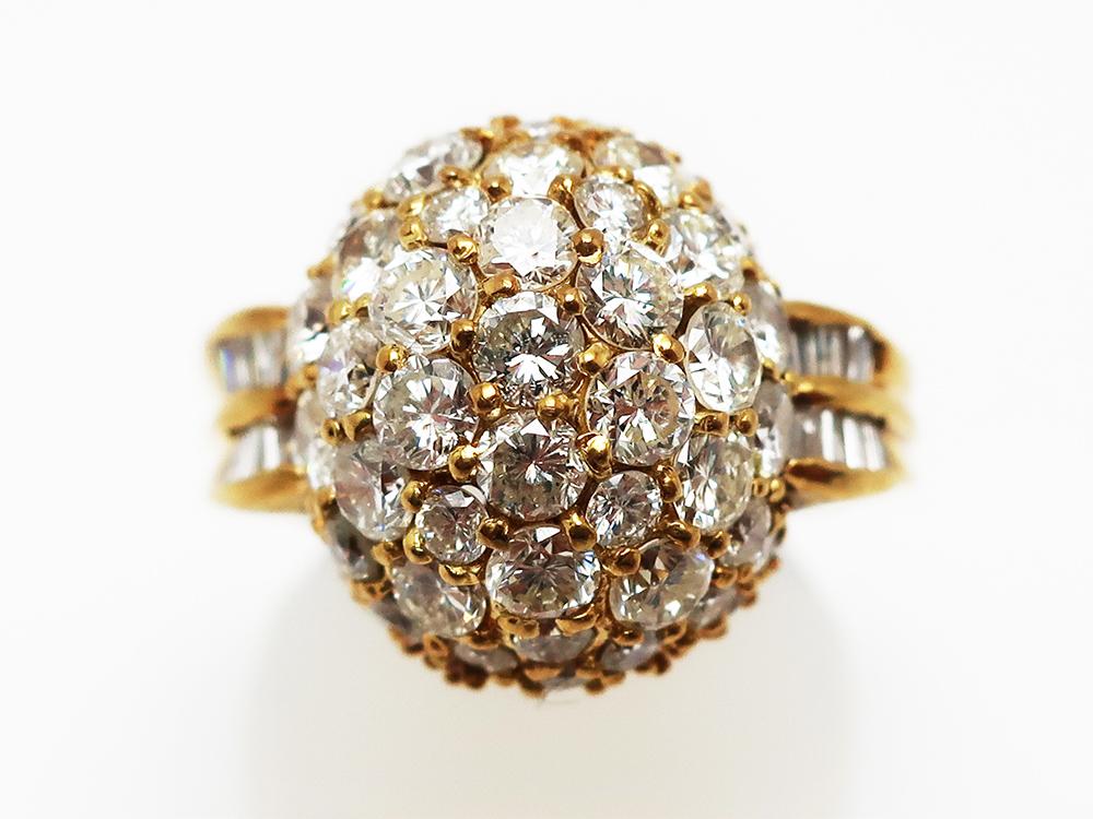 K18 ダイヤモンド3.4ctリング 8.5g 買取情報 202012