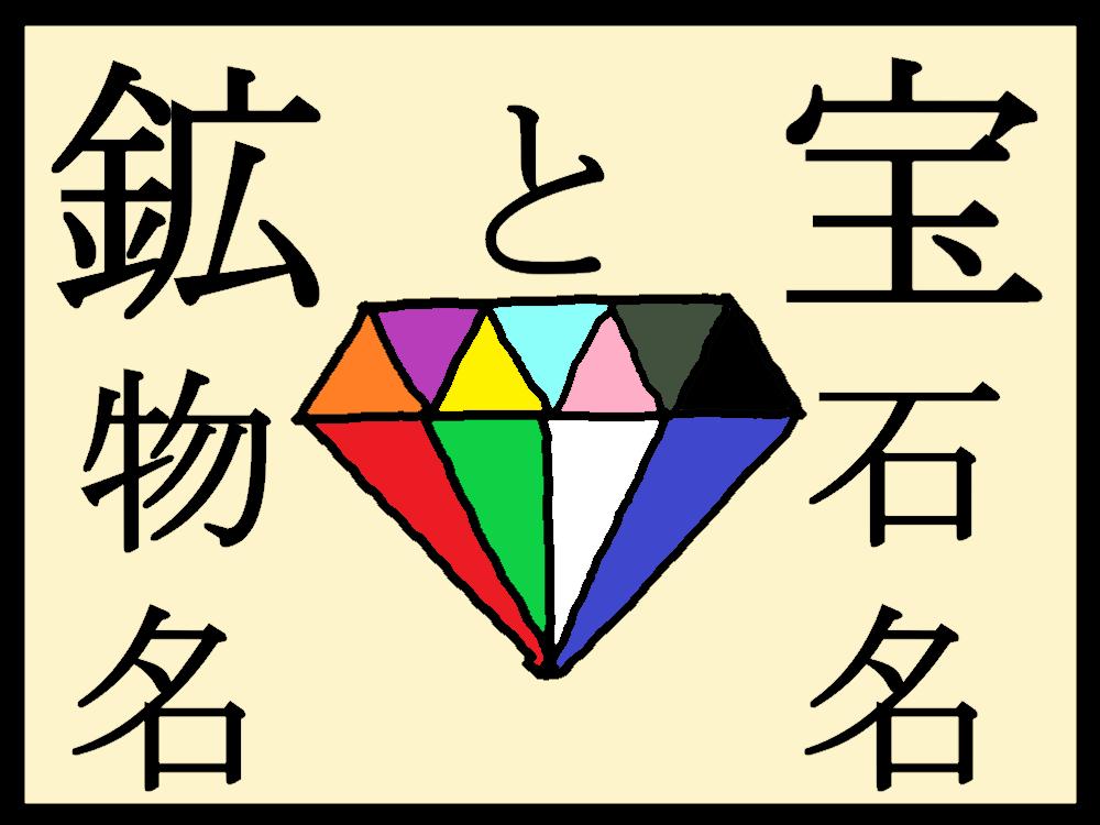 質屋コラム「鉱物名と宝石名」
