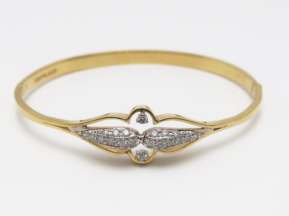 K18/Pt900 ダイヤモンド 0.36ct ヴァングル 12.5g 買取情報 202012