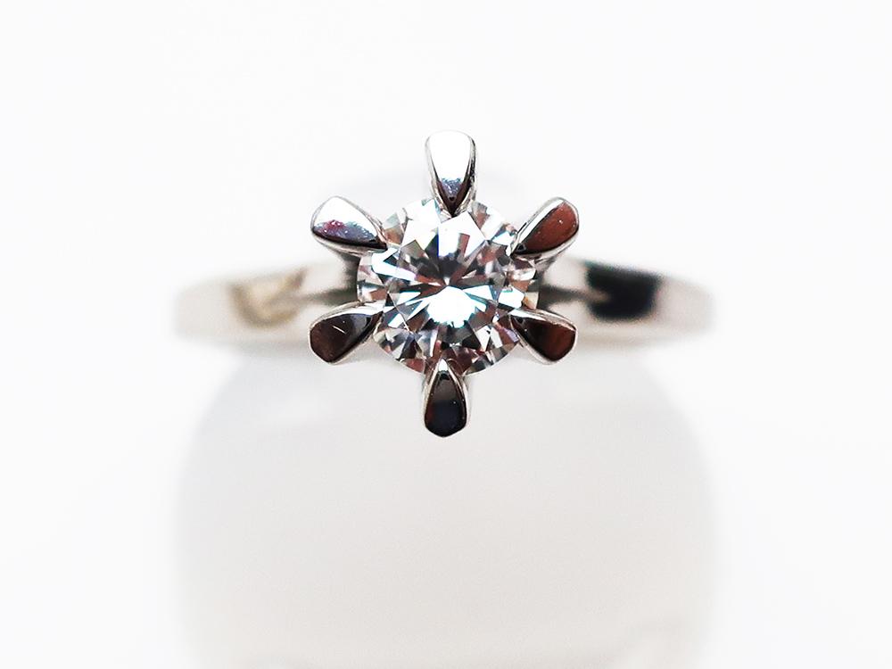 Pt900ダイヤモンドリング 0.436ct 4.8g 買取実績 202101