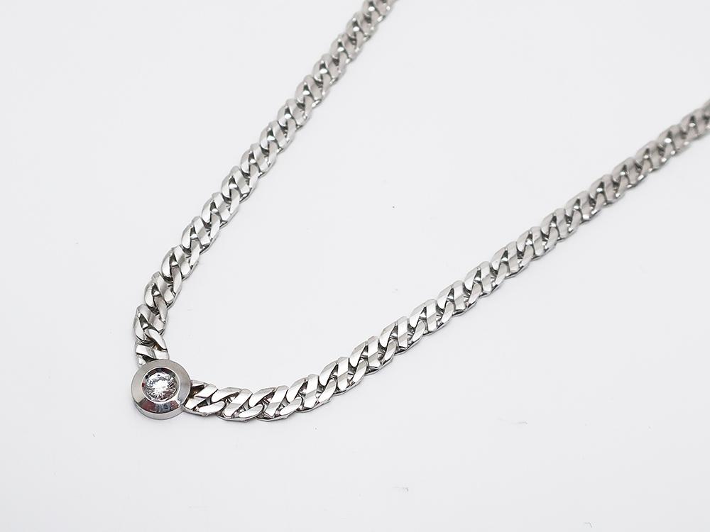 K18WG ダイヤモンド 0.319ct ネックレス 39.6g 買取実績 202101