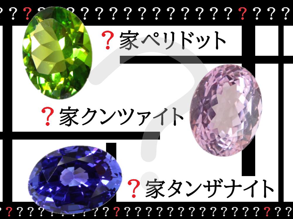 """宝石のアレなぜ?コレなに?「""""名字(家名)があまり知られていない宝石一家""""てなに?」(R3.2/13UP)"""
