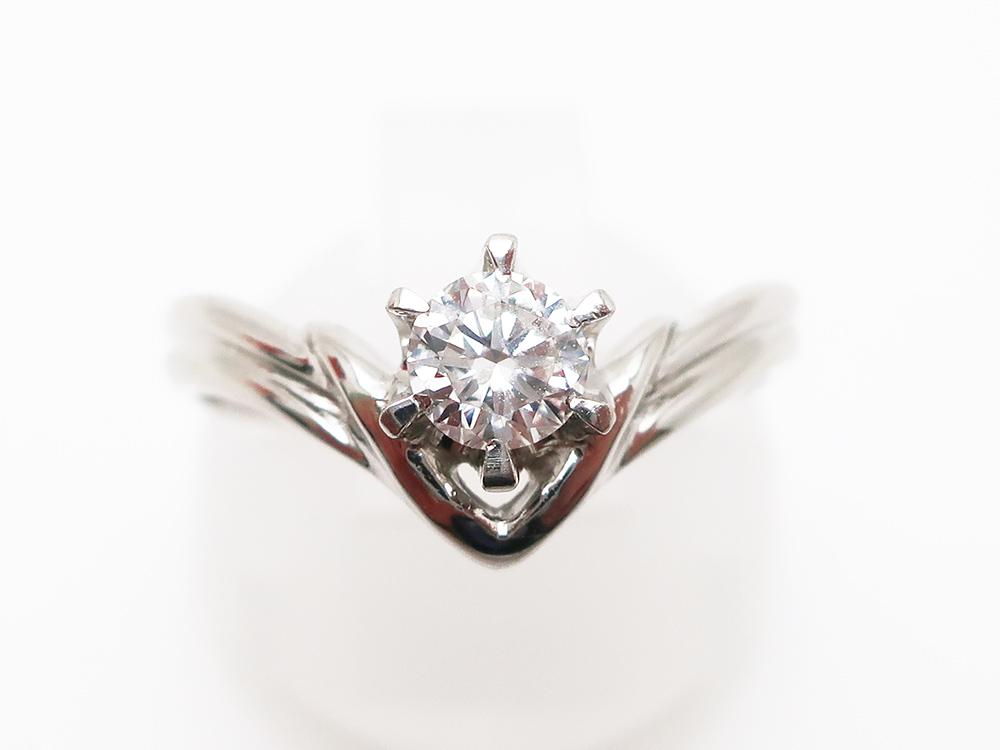 Pt900 ダイヤモンド 0.357ct リング 3.8g 買取実績 202103