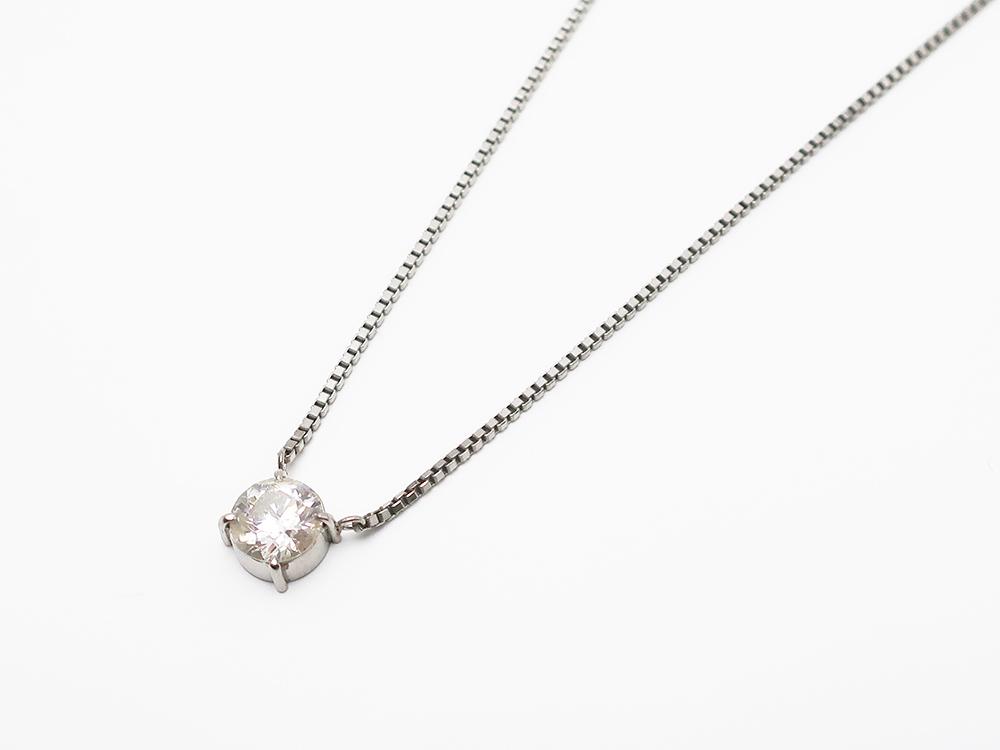 Pt850 ダイヤモンド 1.37ct ペンダントネックレス 7.3g 買取実績 202103