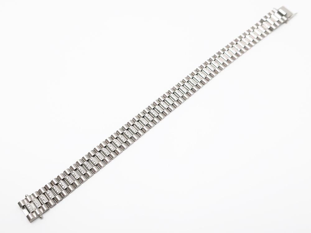 K18WG ダイヤモンド 0.63ct ブレスレット 29g 買取実績 202103