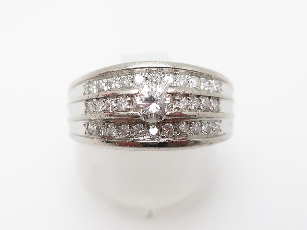 Pt900 ダイヤモンド 0.316ct 0.40ct リング 9.3g 買取実績 202103