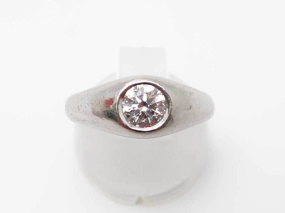 Pt900 ダイヤモンド 0.586ct リング 9.0g 買取実績 202103