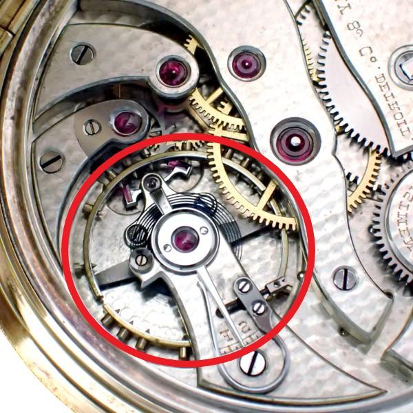 機械式時計内のてんぷ