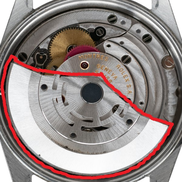 機械式時計内部のローター