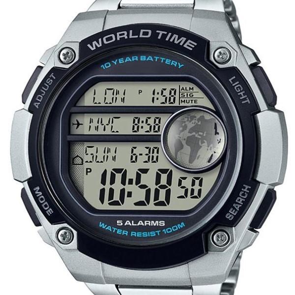 多機能クオーツ式時計の例