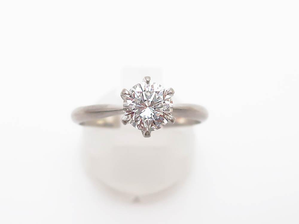 Pt900ダイヤモンド1.00ct 5.1g 立爪リング 買取実績 202104