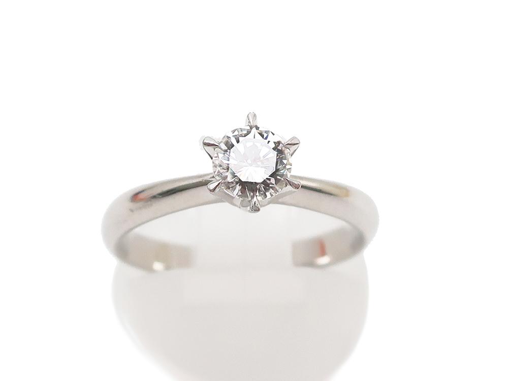 Pt900ダイヤモンド0.509ct 4.9g 立爪リング 買取実績 202104