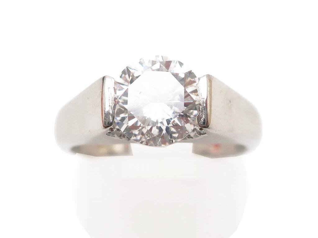 Pt900 ダイヤモンド1.704ct リング 7.8g 買取実績 202105