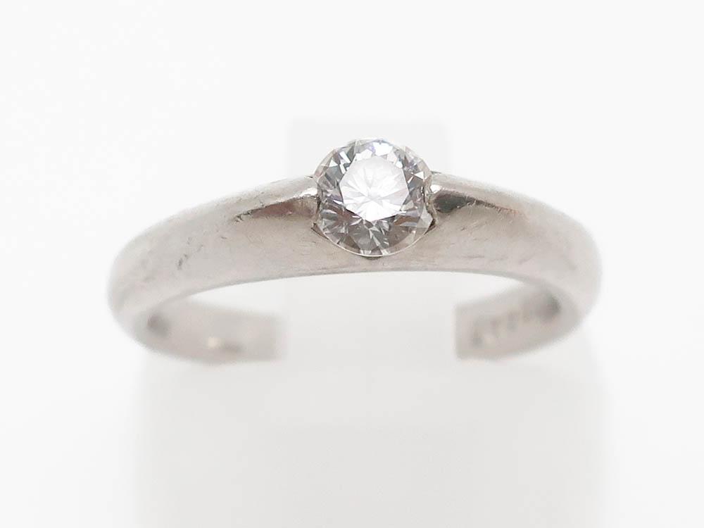 Pt900 ダイヤモンド 0.303ct リング 4.9g 買取実績 202105