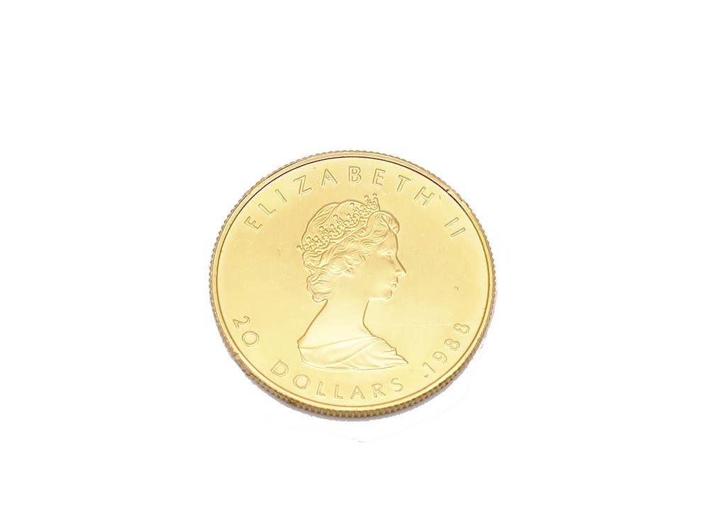 純金 メイプルリーフコイン 1/2オンス 買取実績 202105