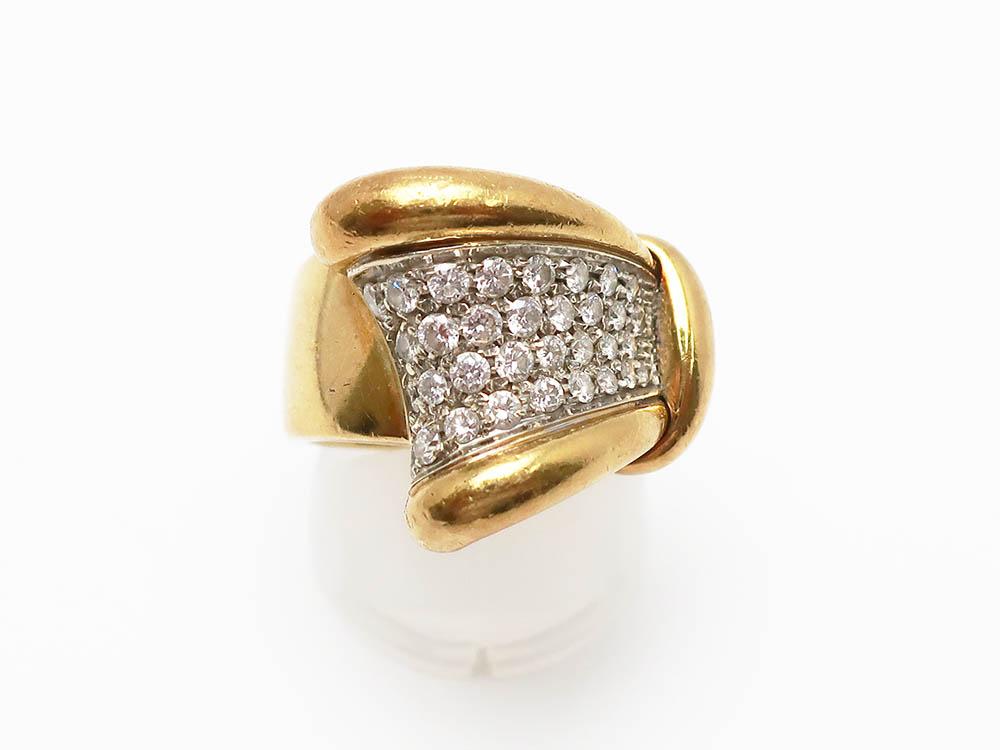 Pt900 K18 ダイヤモンド 0.80ct リング 9.8g 買取実績 202106