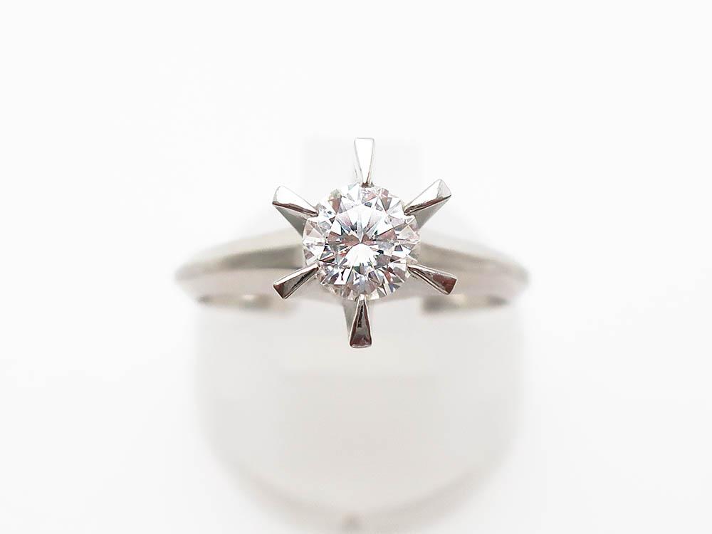 Pt900 ダイヤモンド 0.49ct リング 5.6g 買取実績 202106