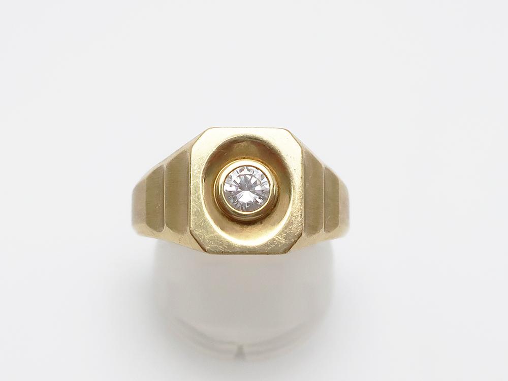 K18 ダイヤモンド 0.29ct 印台リング 10.0g 買取実績 202107