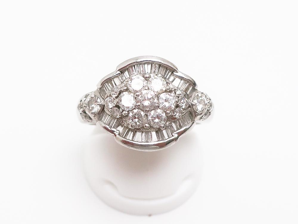 Pt900 ダイヤモンド 1.50ct ファッションリング 8.2g 買取実績 202107