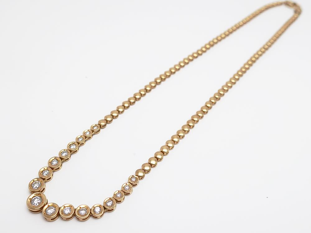 K18 ダイヤモンド1.00ct ネックレス 18.6g 買取実績 202107