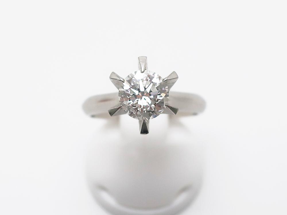 Pt900 ダイヤモンド 1.03ct 立爪リング 6.0g買取実績 202108