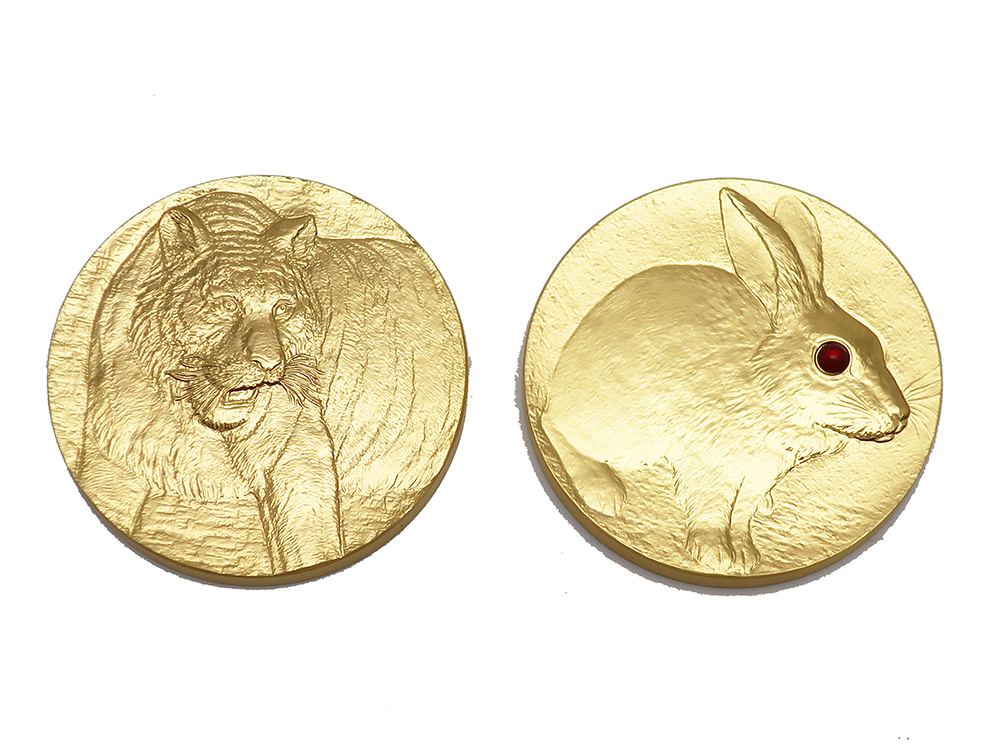 K24 干支メダル2枚 191.8g 買取実績 202108