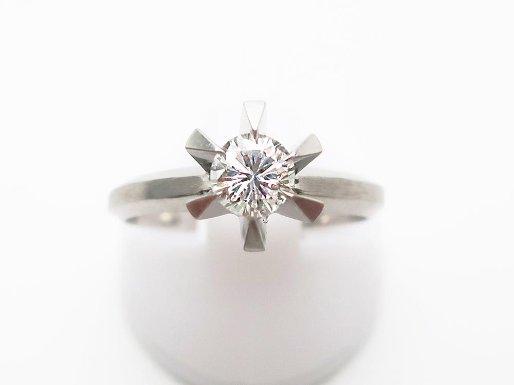 Pt900 ダイヤモンド 0.506ct 立爪リング  5.3g 買取実績 202108